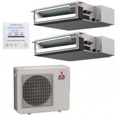 Канальная мультисистема SEZ-M25DAx2/MXZ-2E53VAHZ Mitsubishi Electric